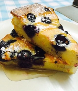 Blueberry Pancake By Oven