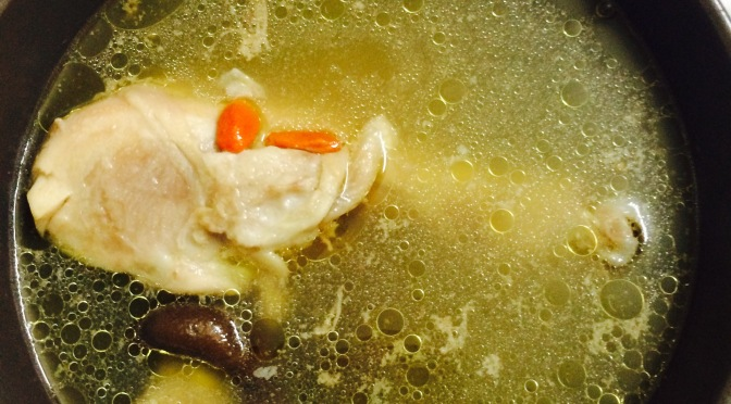 Easy Shiitake Chicken Leg Soup