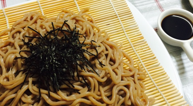 A Simple Japanese Cuisine Dinner: Soba & Fried Shishamo & Fried Dumplings