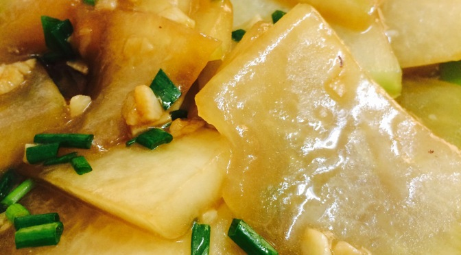 White Gourd in Oyster Sauce