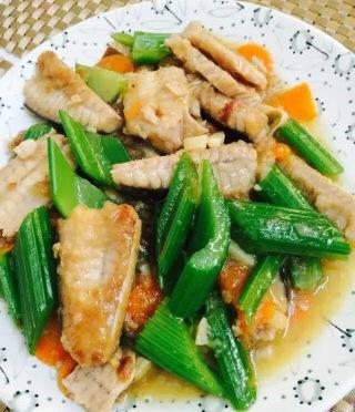 Stir Fry Stingray With Vegetables