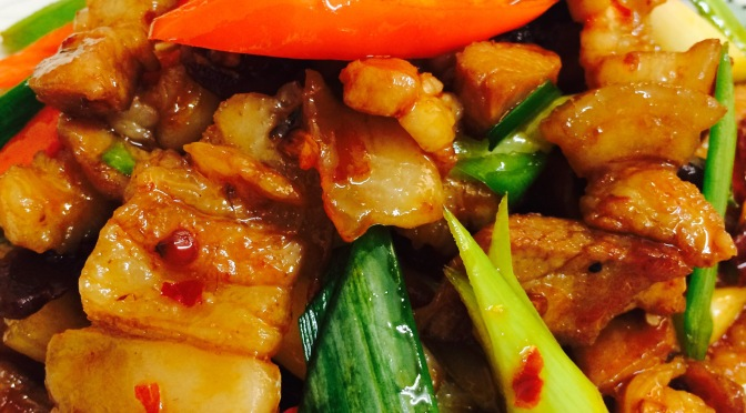 A Sichuan Dish- Hui Guo Rou (Double Cooked Pork Slices)
