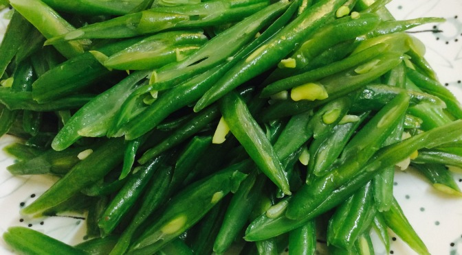 Stir Fry French Bean Slices