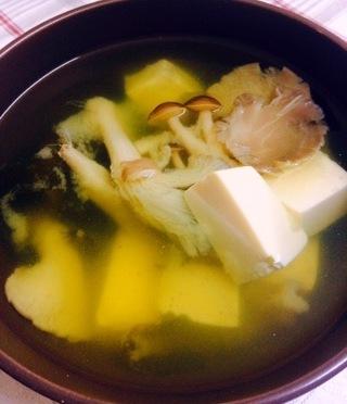 Mushroom Tofu Miso Soup
