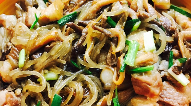 Braised Pork With Mushroom & Vermicelli