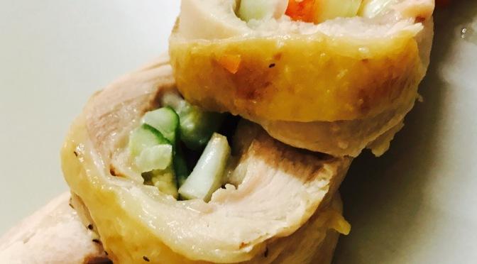 Cheesy Vegetable Chicken Rolls