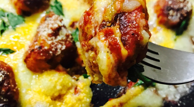 Skillet Cheese Meatball