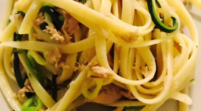 Tuna Zucchini Spaghetti