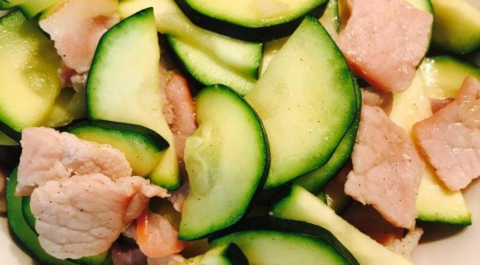 Zucchini & Bacon Stir-fry