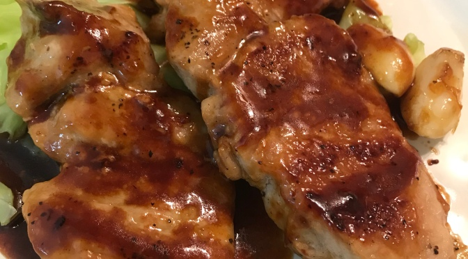 Pork Chop With Plum Sauce