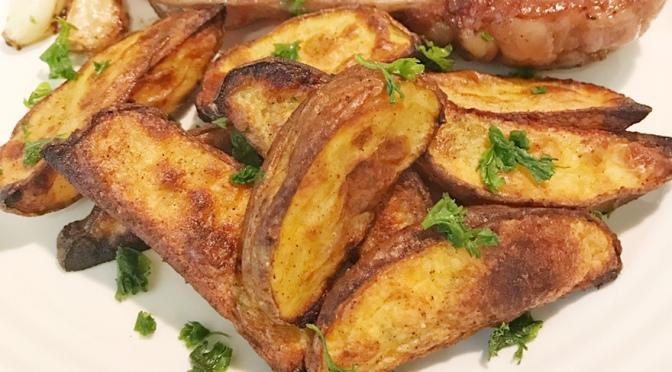 Potato Wedges & Steak