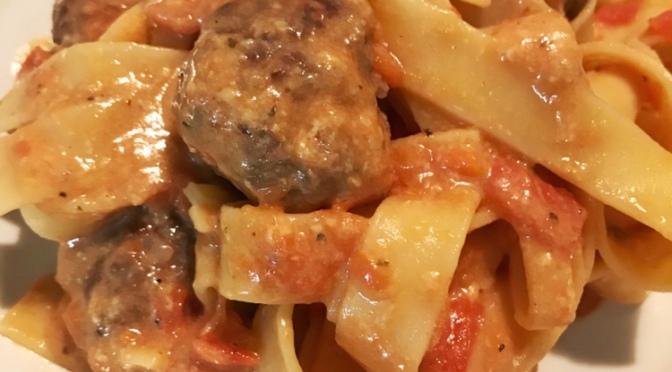 Cheesy Meatball Pasta