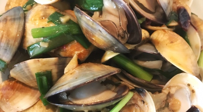 Spicy Clam Stir-fry