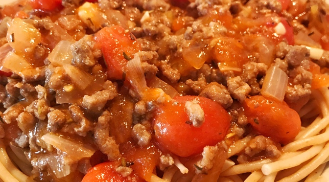 Meat Sauce Pasta Recipe
