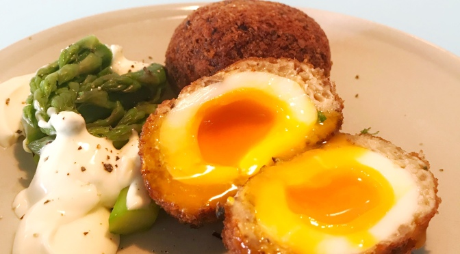 Meat Ball With Running Egg