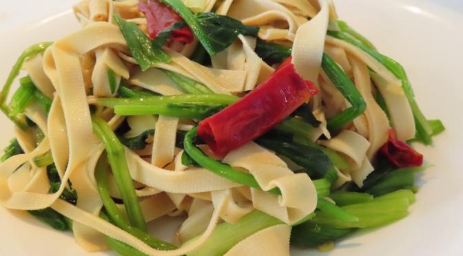 Vegan Stir-fry (Thin Tofu Sheet & Spinach)