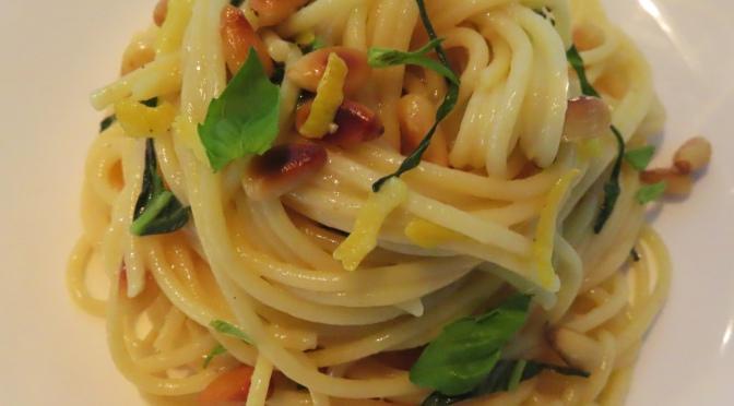 Pine Seeds & Basil Lemon Spaghetti