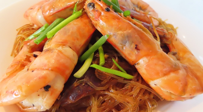 Prawn & Glass-noodle Stir-fry