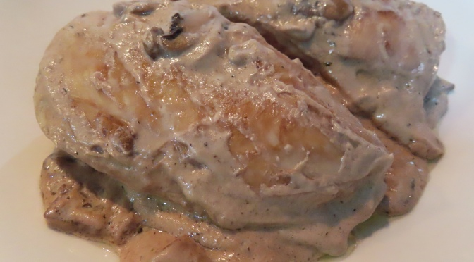 Creamy Mushroom Sauce Chicken Breast
