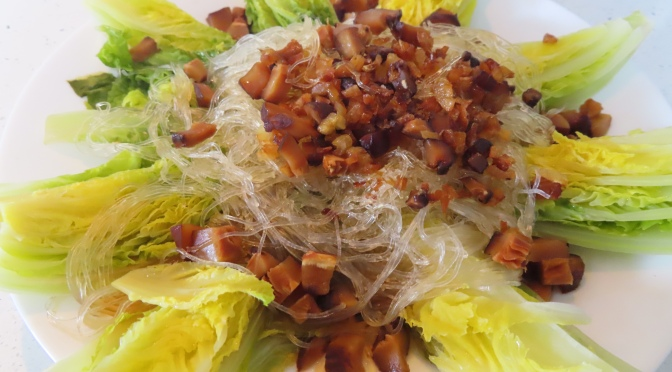 Steam Baby Chinese Cabbage with Glass noodles (粉丝娃娃菜)