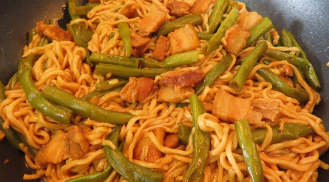 One-pot French Beans & Noodles
