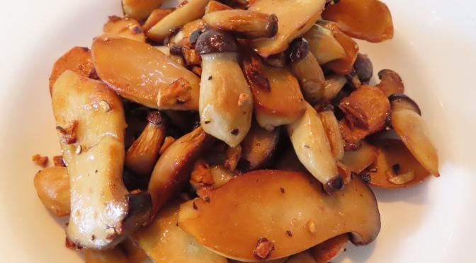 Pan Fried Mini King Oyster Mushroom