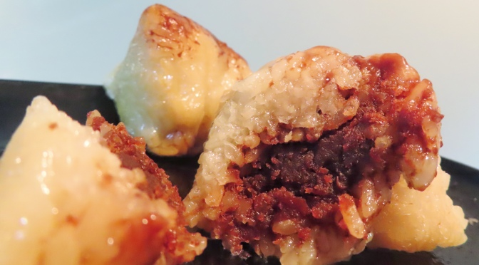 粽子 Sticky Rice Dumplings With Red Bean Paste Filling